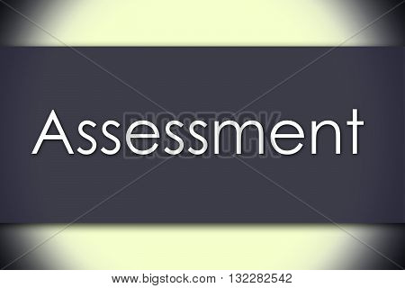Assessment - Business Concept With Text