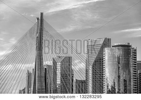 Octavio Frias De Oliveira Bridge In Sao Paulo