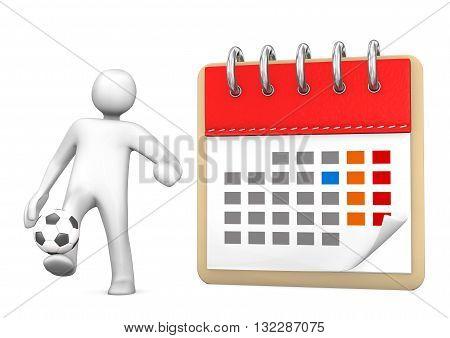 Manikin Calendar Football