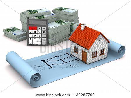 House Construction Plan Euro Notes Calculator