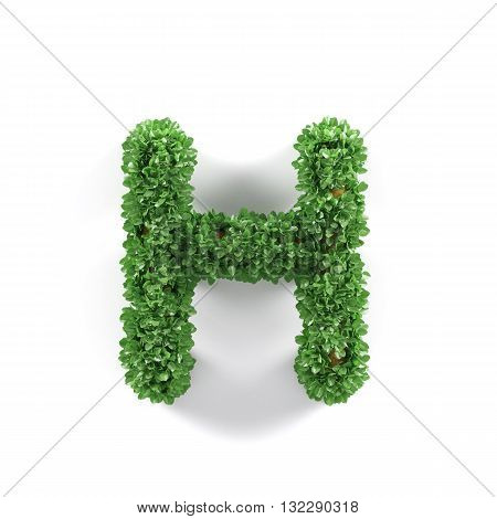 Green Leaves H Ecology Letter Alphabet Font