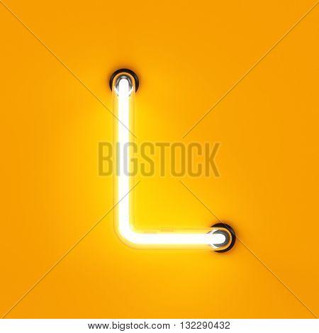 Neon Light Alphabet Character L Font