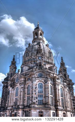 Cathedral in Dresden, permitted during World War 2