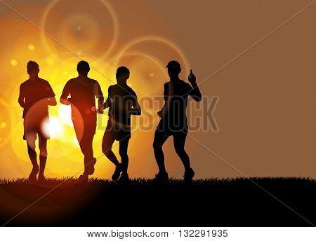 Sport background, marathon runner