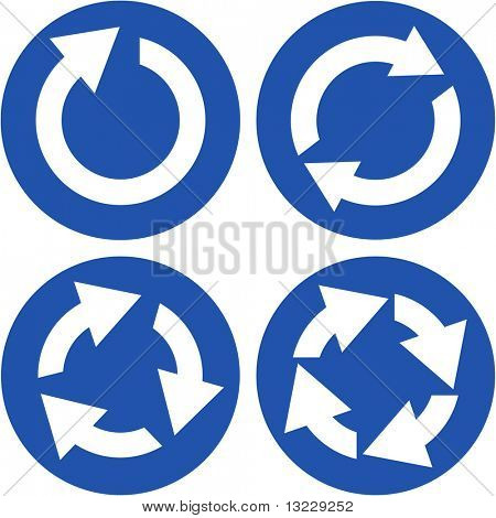 Recycle symbol set. Vector set.