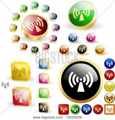 Communications button set. Vector great collection.