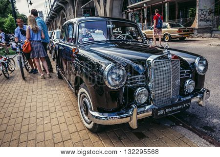 Warsaw Poland - August 2 2015: Mercedes W120 180D from 1958 during retro cars show in Warsaw