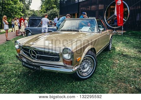Warsaw Poland - August 2 2015: Mercedes W113 280 SL during retro cars show in Warsaw