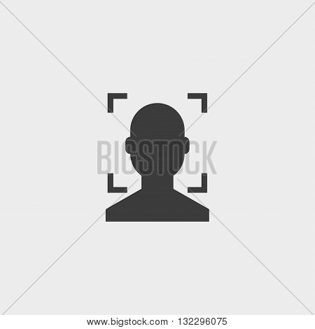 Anonymous male icon in a flat design in black color. Vector illustration eps10