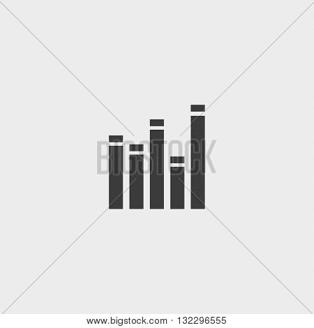 EQ icon in a flat design in black color. Vector illustration eps10