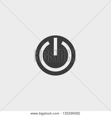 On Off icon in a flat design in black color. Vector illustration eps10