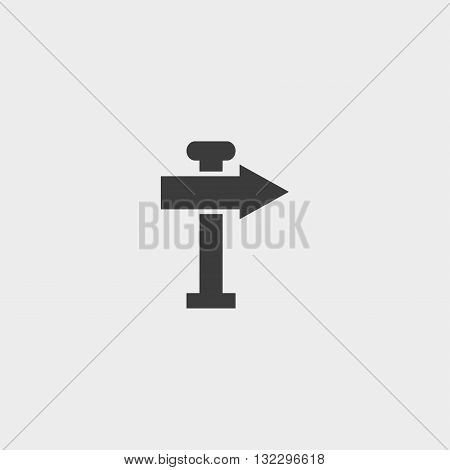 signpost icon in a flat design in black color. Vector illustration eps10