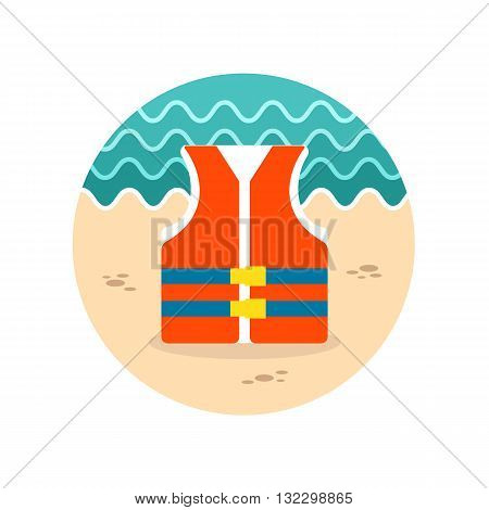 Life jacket vector icon. Beach. Summer. Summertime. Vacation eps 10