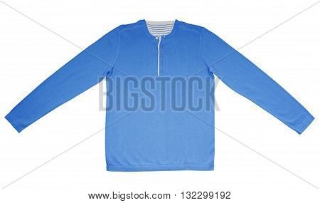 Warm Shirt With Long Sleeves - Light Blue