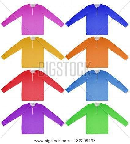 Warm Shirt With Long Sleeves - Colorful