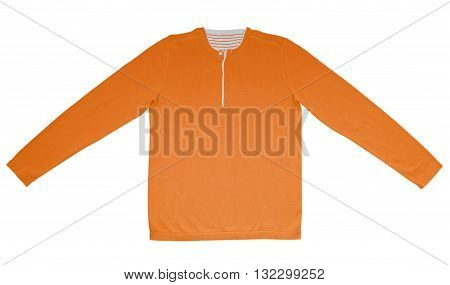 Warm Shirt With Long Sleeves - Orange