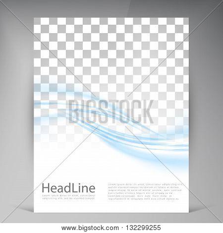 Vector Beautiful Green Flyer. Template flyers design. Business brochure