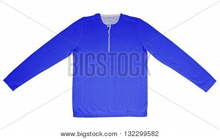 Warm Shirt With Long Sleeves - Blue