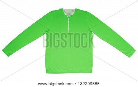 Warm Shirt With Long Sleeves - Green
