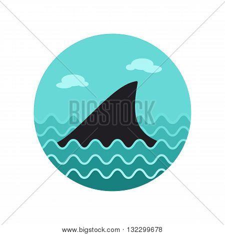 Shark fin vector icon. Beach. Summer. Summertime. Vacation eps 10