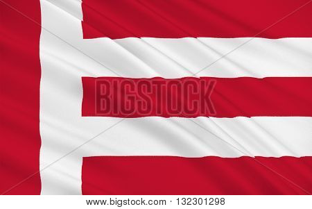 Flag of Eindhoven is a municipality and a city located in the province of North Brabant in the south of the Netherlands