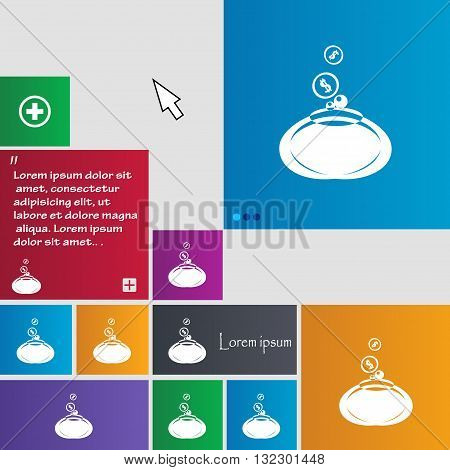 Retro Purse Icon Sign. Buttons. Modern Interface Website Buttons With Cursor Pointer. Vector