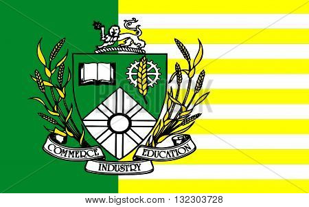 Flag of Saskatoon is the largest city in the Canadian province of Saskatchewan