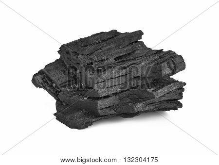 Coal Isolated on White Background black energy