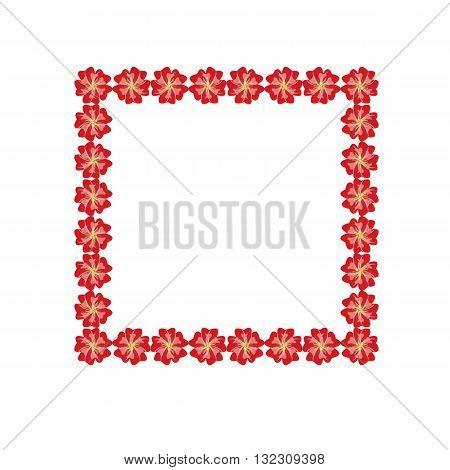 Vector flower frame vintage illustration on background