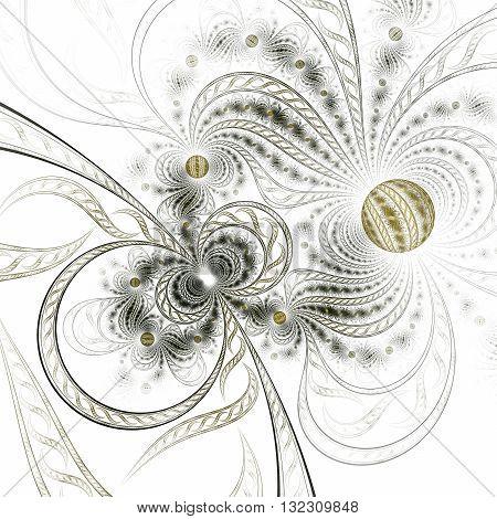 Colorful fractal flower pattern digital artwork for creative