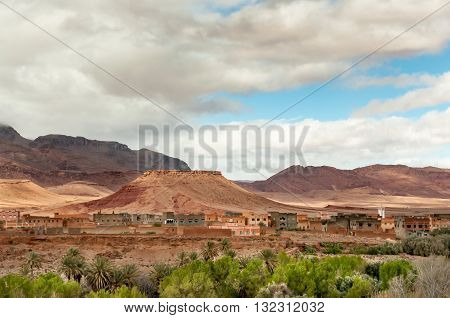 A remote village in the Atlas Mountains near the Dades Valley.