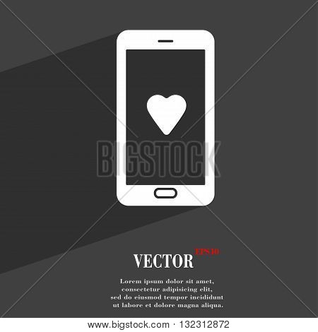 Love Letter, Valentine Day, Billet-doux, Romantic Pen Pals Symbol Flat Modern Web Design With Long S