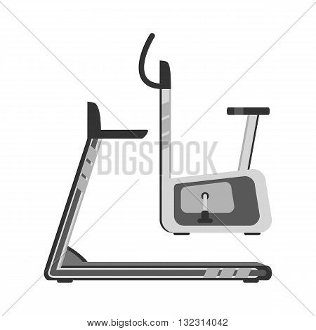 Treadmill and an exercise bike. The cardiovascular equipment.