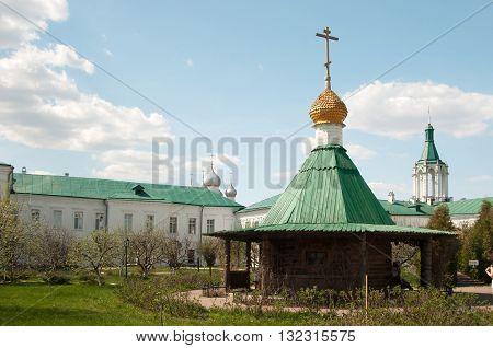 ROSTOV RUSSIA MAY 08. 2016: - Rostov the Great Spaso-Yakovlevsky Dmitriev monastery saint spring