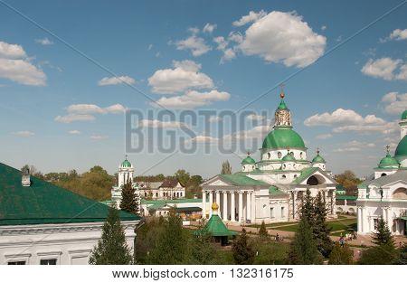 ROSTOV RUSSIA MAY 08. 2016: - Rostov the Great Spaso-Yakovlevsky Dmitriev monastery The Cathedral of St. Dimitry Of Rostov
