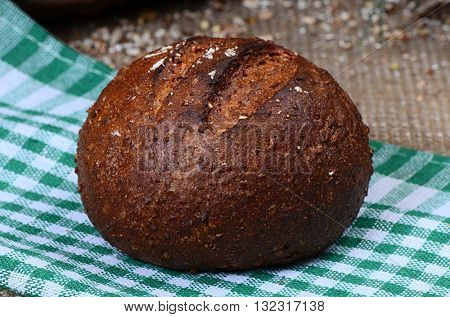 Brown bread with seeds