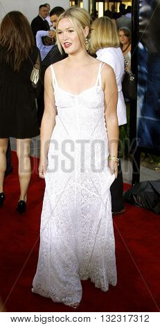Julia Stiles at the Los Angeles premiere of 'The Bourne Ultimatum' held at the ArcLight Cinemas in Hollywood, USA on July 25, 2007.