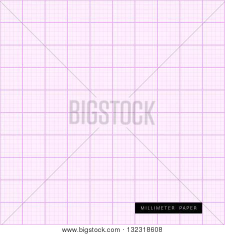 millimeter paper is pink art measure illustration