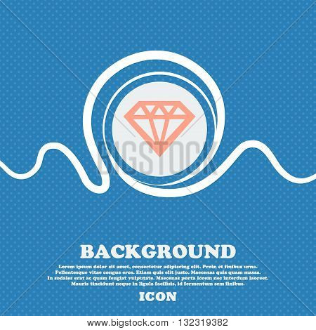 Diamond Sign. Blue And White Abstract Background Flecked With Space For Text And Your Design. Vector