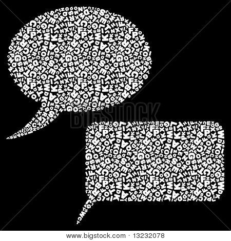 Vector speech bubble. Vector set.