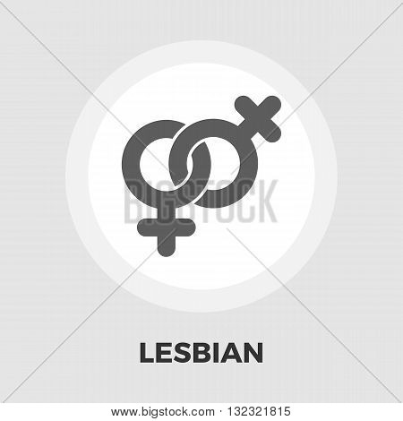 Lesbian sign icon vector. Flat icon isolated on the white background. Editable EPS file. Vector illustration.