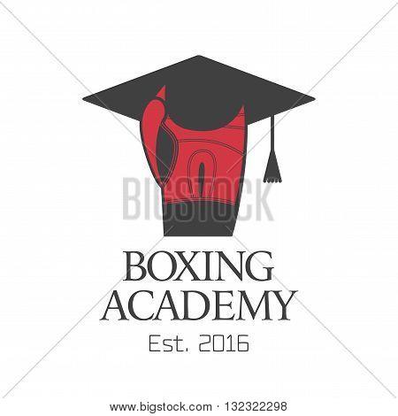 Boxing academy vector logo design element. Boxing concept