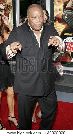 Quincy Jones at the Los Angeles premiere of 'Rush Hour 3' held at the Grauman's Chinese Theater in Hollywood, USA on July 30, 2007.