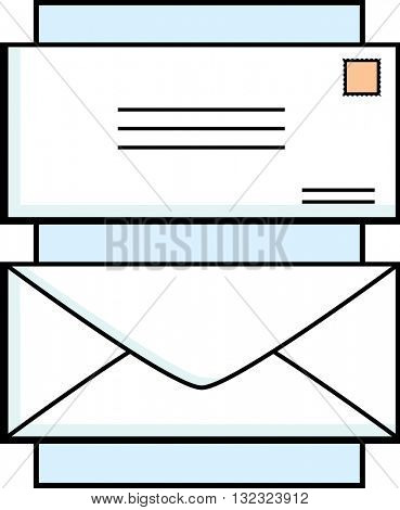 mail envelope front and rear