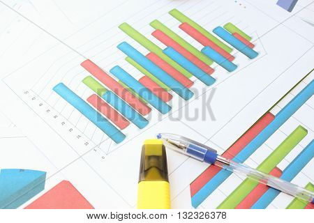 The cylindrical volumetric histogram. Different types of charts showing data