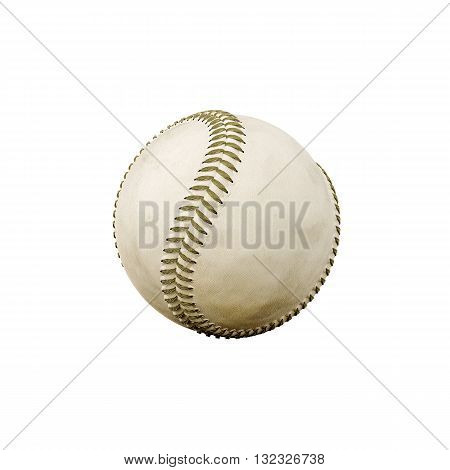 3d illustration of a baseball ball isolated on white background