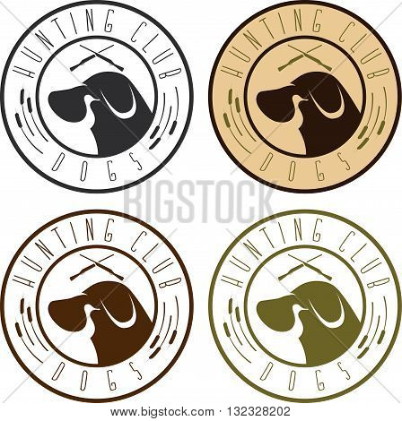 Duck Hunting Retriever Negative Space Labels Set