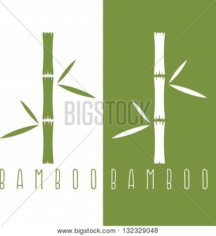 Green Bamboo Stems And Leaves Vector Design Template