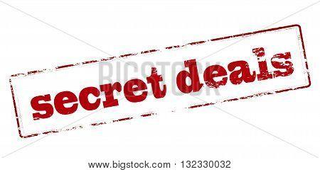 Rubber stamp with text secret deals inside vector illustration