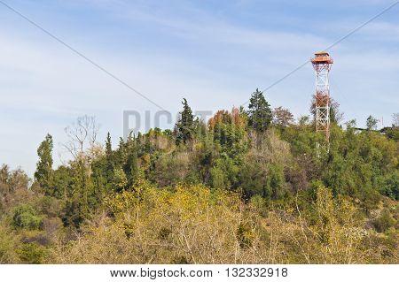 Forest ranger tower at Cerro San Cristobal.